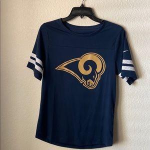 Los Angeles Rams Nike Tee with Jersey Sleeves